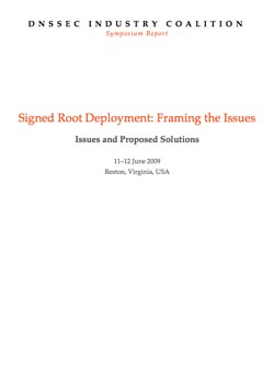 Report on issues with signing the DNSSEC root