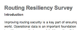 Routing Resiliency Survey