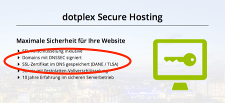 Secure hosting with DNSSEC and DANE