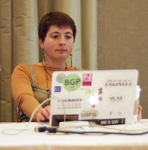 Jen Linkova at IETF 92