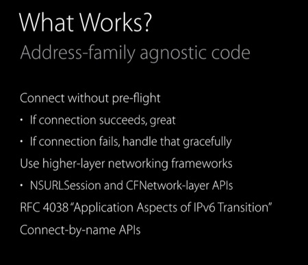 Apple IPv6 - what works?