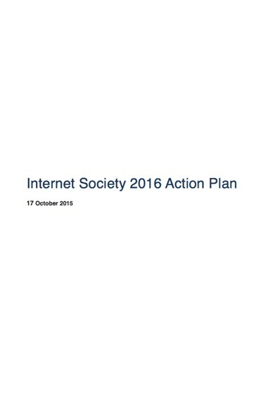 Internet Society 2016 Action Plan