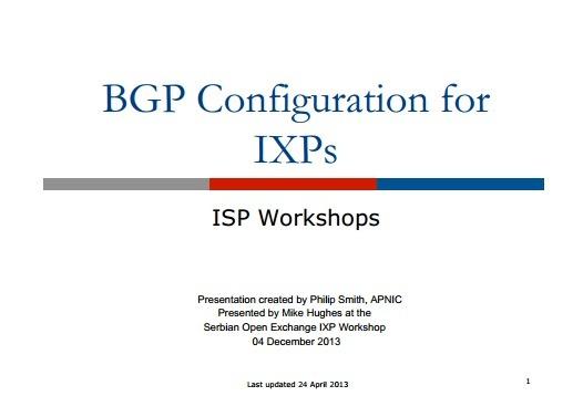 BGP Configuration for IXPs Thumbnail