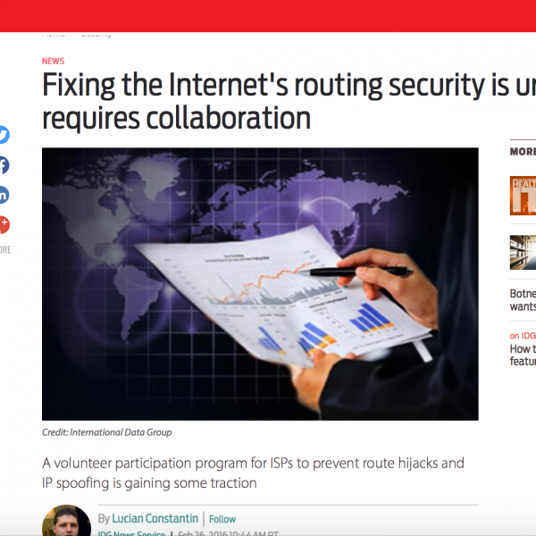 MANRS and Routing Security in the News! Thumbnail