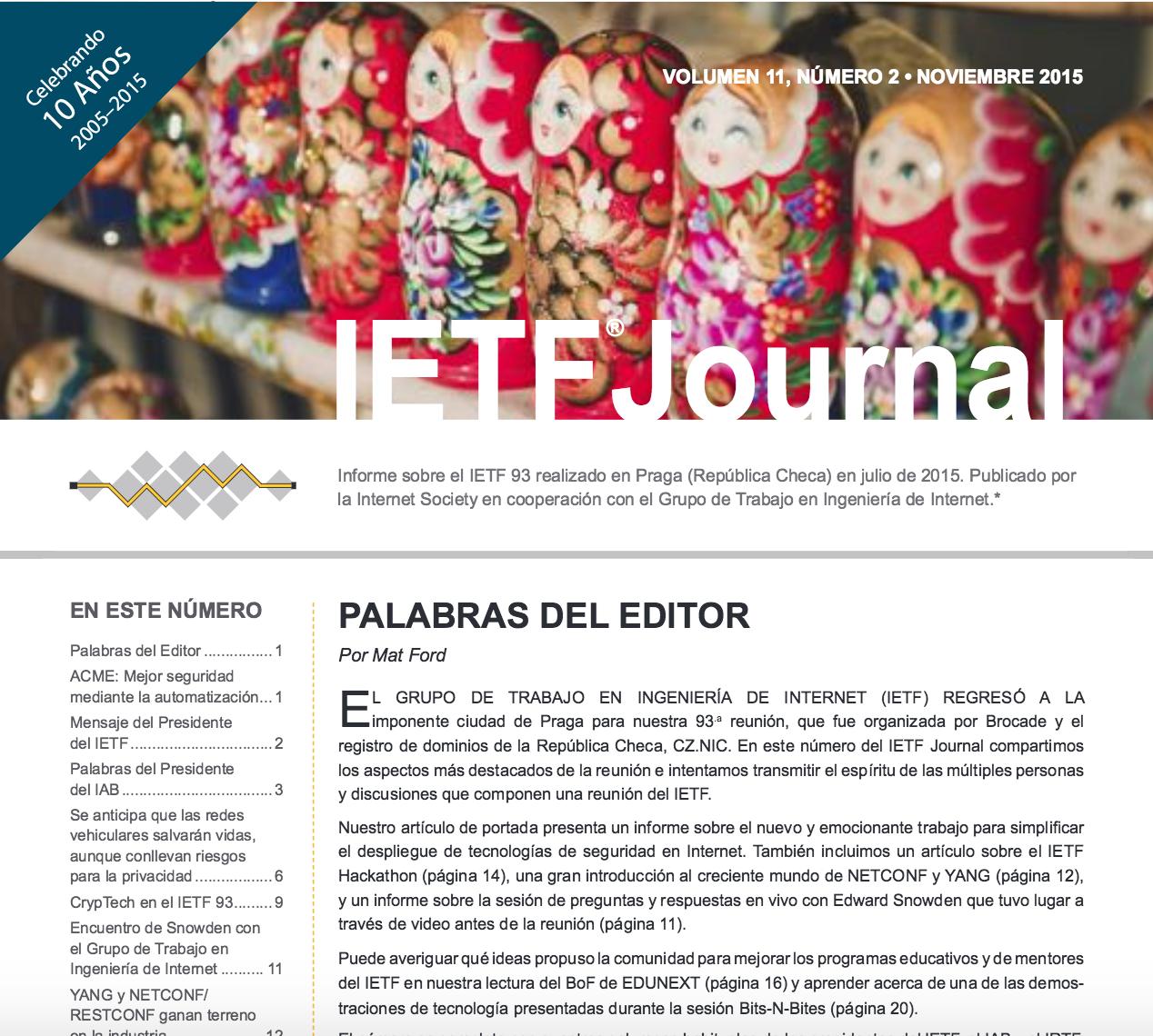 El IETF habla en español Thumbnail