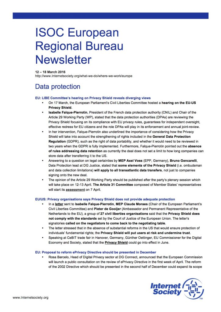 EU Issues Overview – 12 – 18 March 2016 Thumbnail