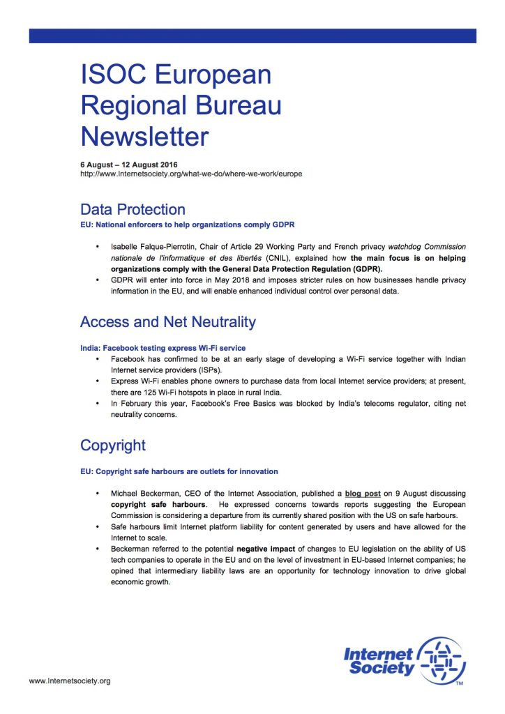 EU Issues Overview – 6 August – 12 August 2016 Thumbnail