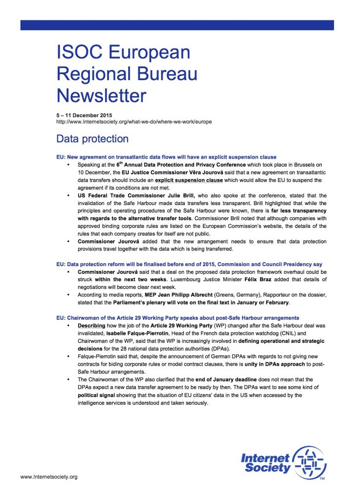 EU Issues Overview – 5 – 11 December 2015 Thumbnail
