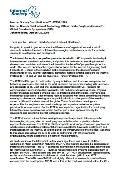 Internet Society Contribution to ITU WTSA 2008 Thumbnail