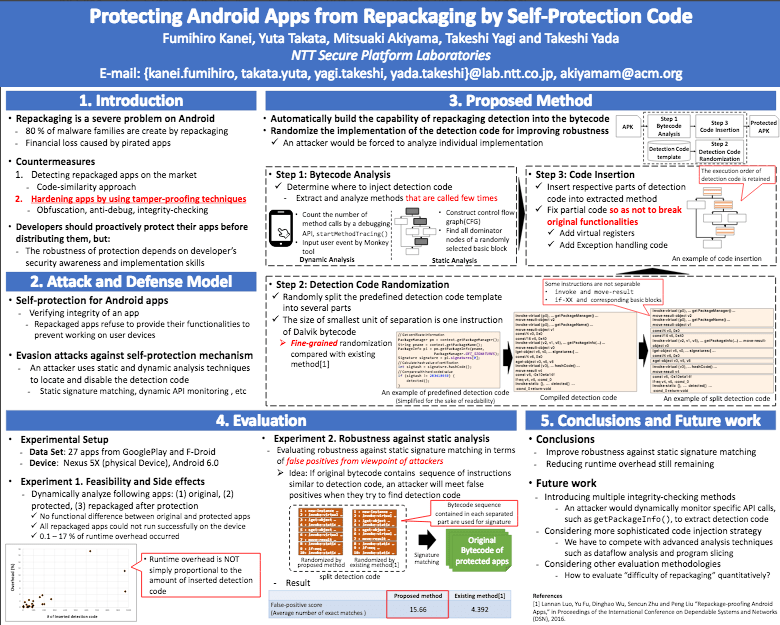 Protecting Android Apps from Repackaging by Self-Protection Code Thumbnail