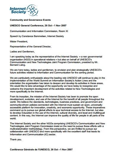 UNESCO General Conference, 26 Oct – 1 Nov 2007 Thumbnail