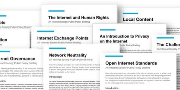 Fiches sur les politiques publiques de Internet Society disponibles en français
