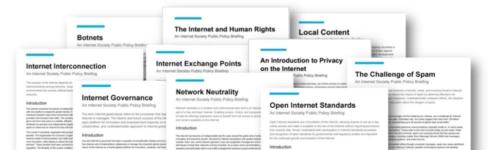 Fiches sur les politiques publiques de Internet Society disponibles en français Thumbnail