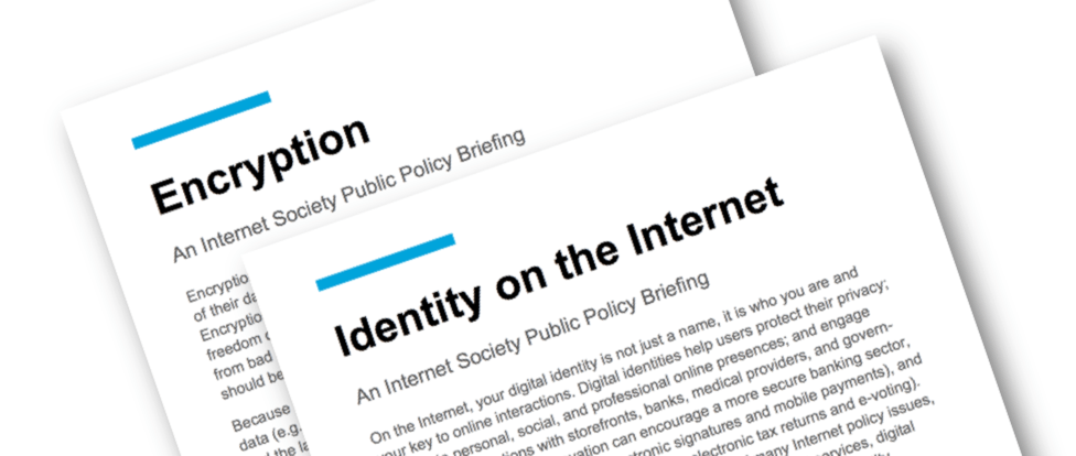 Two New Policy Briefs Available Now: Encryption and Identity Thumbnail