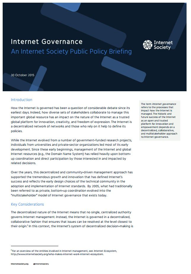 Internet Governance - cover thumbnail