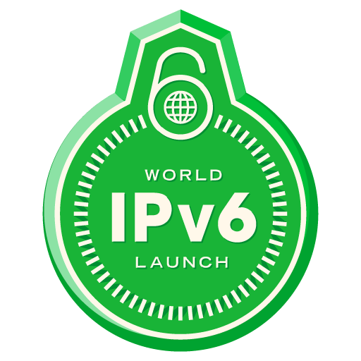World IPv6 Launch badge (transparent)