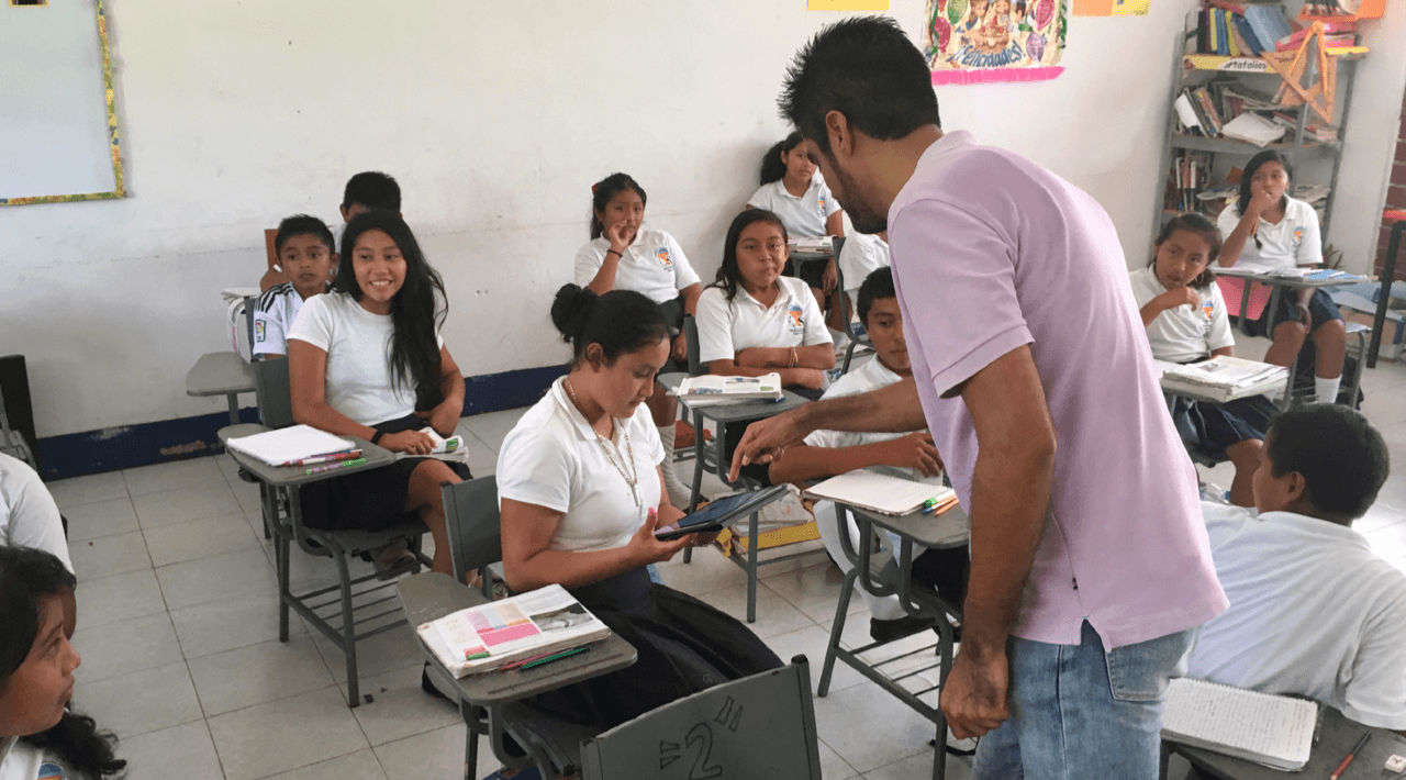 Classroom in Agua Azul, Mexico