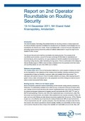 Routing Security Report on 2nd Internet Society Operator Roundtable thumbnail