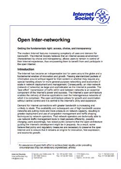 Open Inter-networking thumbnail thumbnail