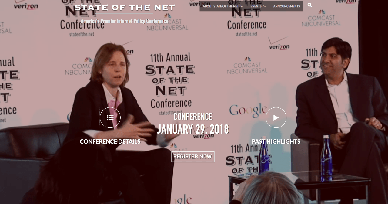 "Watch the ""State of the Net 2018"" Live on Monday, January 29 Thumbnail"