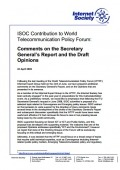 Comments to the Secretary General's Report April 2009 thumbnail