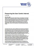 Preserving the User Centric Internet thumbnail