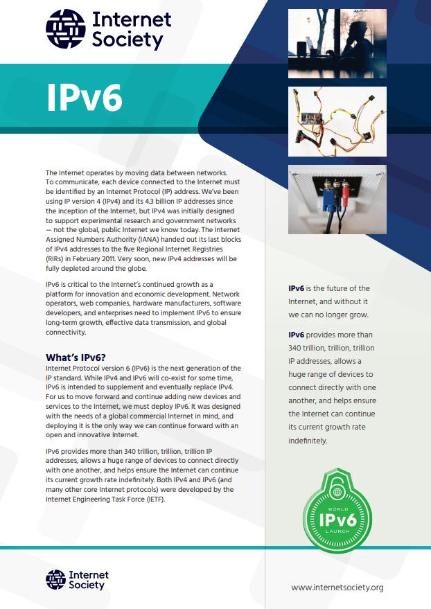 IPv6 Fact Sheet