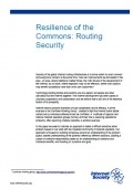 Resilience of the Commons Routing Security thumbnail