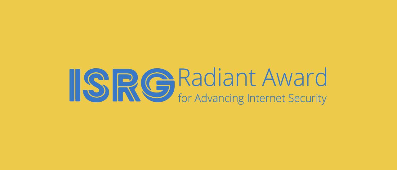 L'Internet Security Research Group a décerné à Rachel Player le prix Radiant Thumbnail