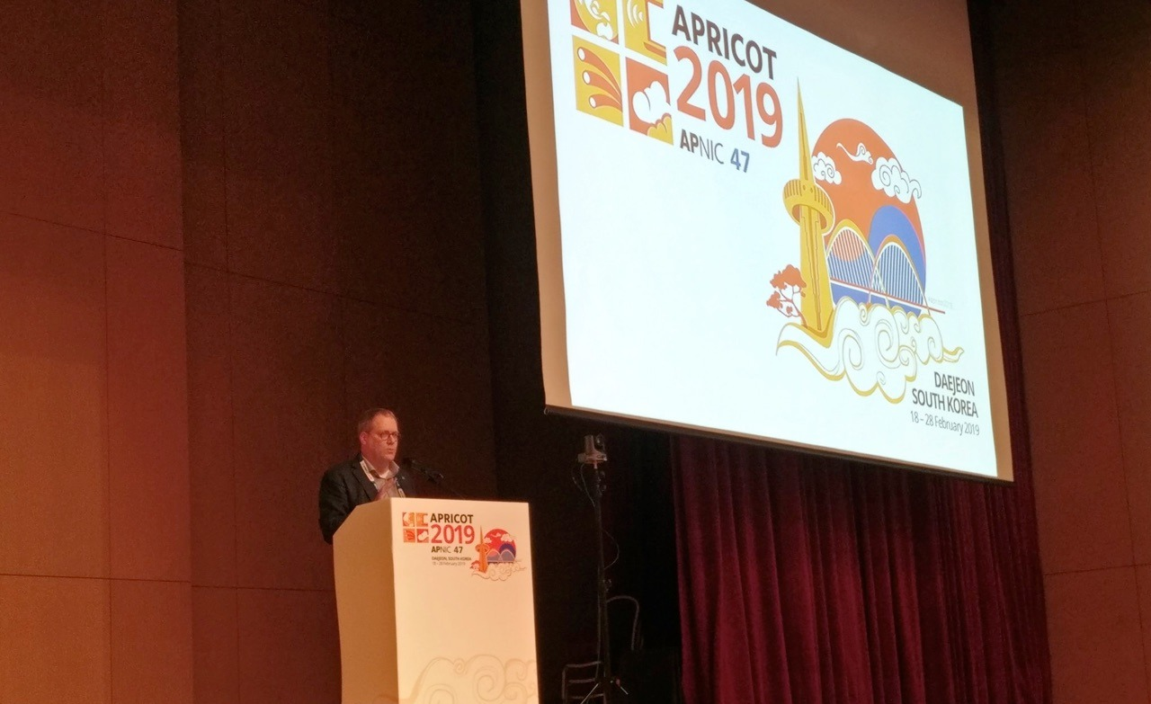 Andrew Sullivan speaking at APRICOT 2019