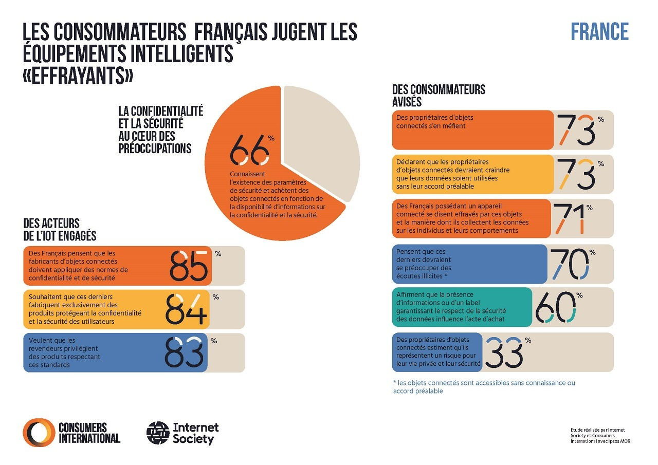 Infographic showing global survey results in French