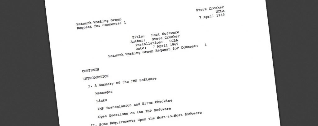 First page of RFC 1