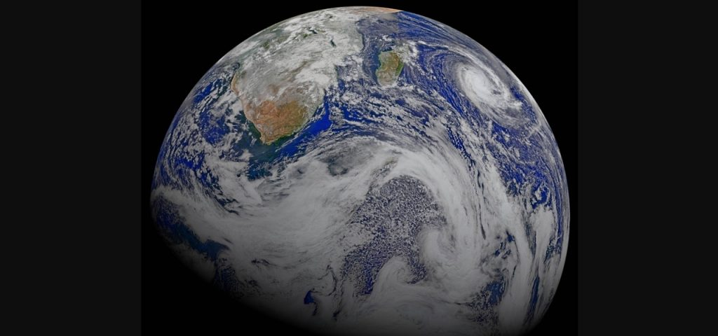 A view of the Earth from space from NASA image library