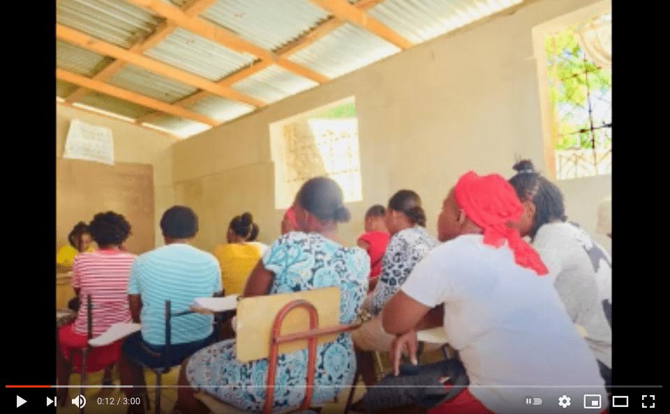 Women sitting at school desks
