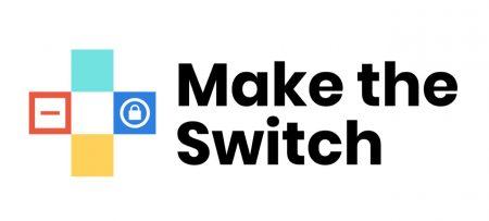"""logo de la campaña """"Make the Switch"""" (Haz el cambio)"""